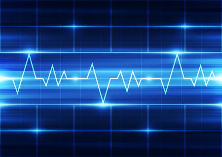 elettrocardiogramma: astratto vettore elettrocardiogramma sfondo illustrazione Vettoriali