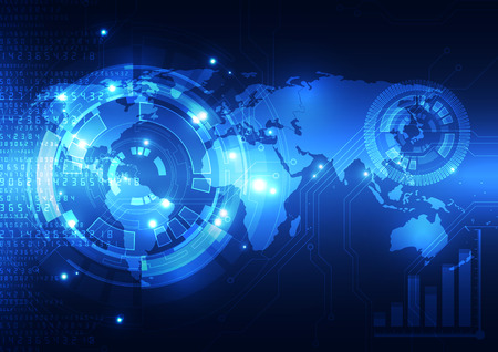 vector digital global technology concept, abstract background 일러스트