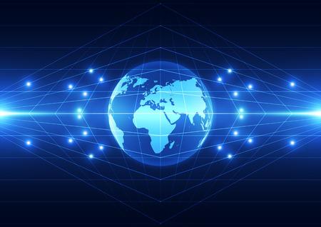 벡터 디지털 글로벌 기술 개념, 추상적 인 배경