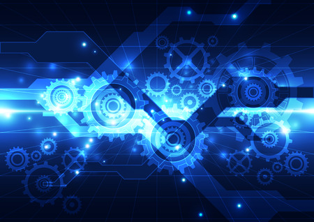 engineering and technology: vector abstract engineering future technology, background