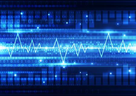 electrocardiograma: resumen de antecedentes vector electrocardiograma ilustración Vectores