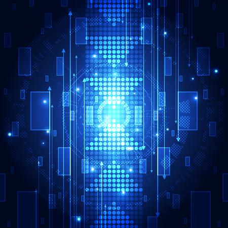 hi speed: abstract future technology system background, vector illustration Illustration