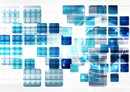 blue network: abstract vector technology background, illustration