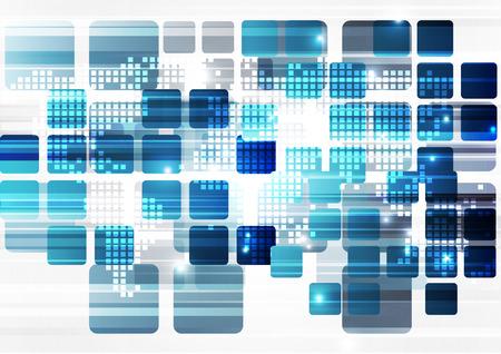 tecnología informatica: vector de la tecnología digital global concepto, fondo abstracto Vectores