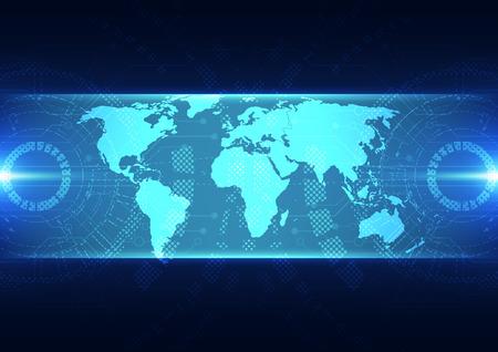ベクトル デジタル グローバル技術概念、抽象的な背景