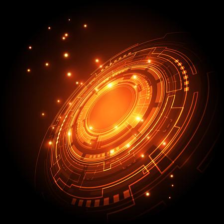 tecnologia: tecnologia abstrato futuro do conceito do fundo, ilustra Ilustração