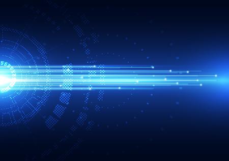 hi speed: abstract vector hi speed technology internet background Illustration