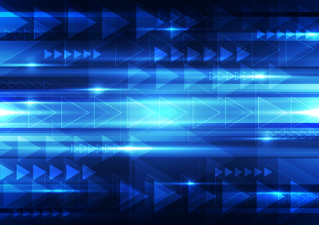 electric blue: Abstract vector  technology background, illustration