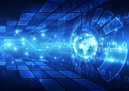 kosmos: Vektor digitalen globalen Technologie-Konzept, abstrakten Hintergrund