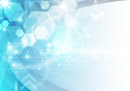 hardware: Tecnología de fondo abstracto del vector, ilustración