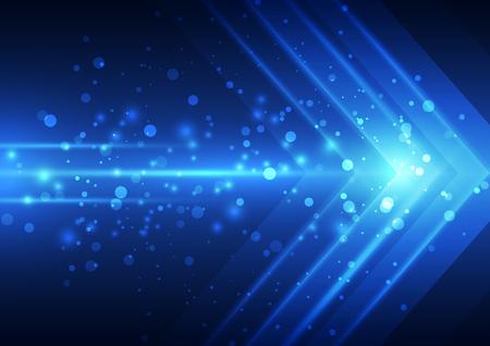 speed: La tecnología de fondo abstracto de la velocidad del vector, ejemplo Vectores