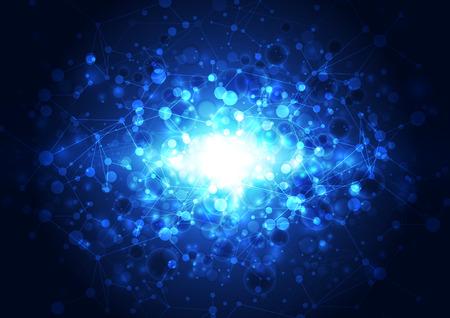 blau: abstrakte Vektor-Technologie Hintergrund, Illustration Illustration