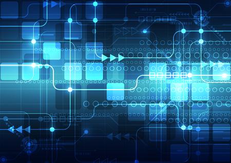 tecnología informatica: Tecnología de fondo abstracto del vector, ilustración