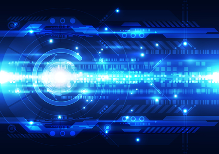 technology background: Abstract futuristic digital technology background. Illustration