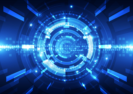 digital: Abstract futuristic digital technology background.  Illustration