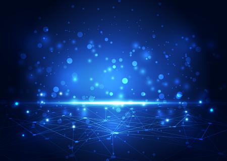 hexagon: abstract future network technology, illustration background