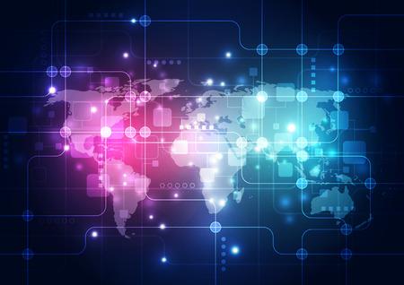 ingeniería: digital, concepto de la tecnología mundial, resumen de antecedentes