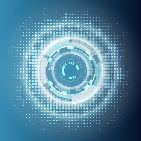 digital illustration: Abstract futuristic digital technology background. Illustration Vector