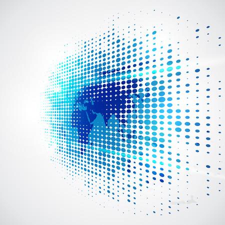 Vettore concetto di tecnologia digitale globale, astratto Archivio Fotografico - 48704352