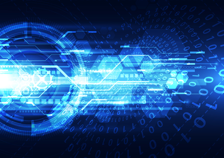 security technology: Abstract security digital technology background. Illustration Vector