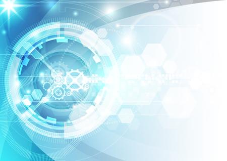 circuito integrado: fondo de la tecnología digital futurista abstracto. ilustración del vector