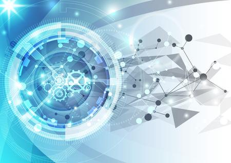 fondos azules: fondo de la tecnología digital futurista abstracto. ilustración del vector