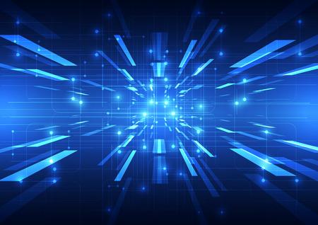 circuito integrado: Tecnología de fondo abstracto del vector, ilustración