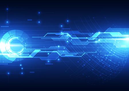Zusammenfassung futuristischen digitale Technologie Hintergrund. Illustration Vektor Standard-Bild - 49713479