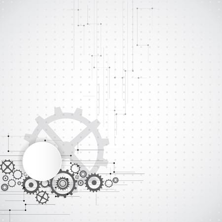 design vector: Abstract technology background. Illustration Vector Illustration