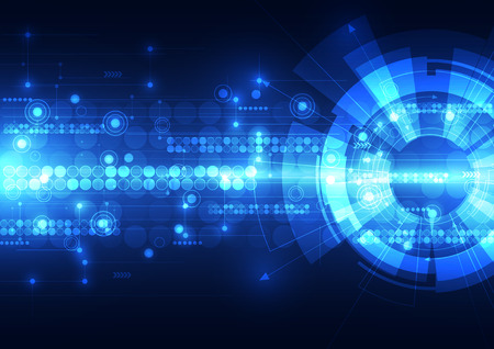 Abstract futuristic digital technology background. Vettoriali