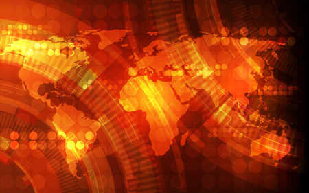 light abstract: vector digital global technology concept, abstract background Illustration