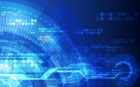 技術: 摘要未來數字技術背景。插圖矢量圖 向量圖像