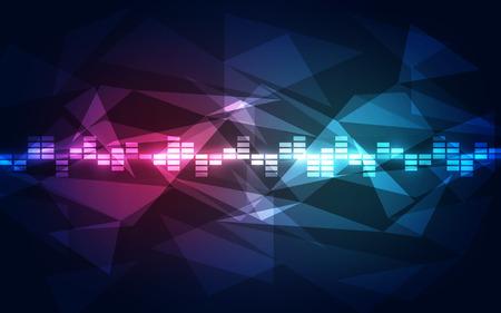 sonido: fondo de la tecnología digital futurista abstracto. ilustración del vector