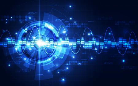 circuitos electronicos: fondo de la tecnología digital futurista abstracto. ilustración del vector