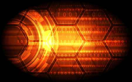 data theft: technology abstract digital background, vector illustration Illustration