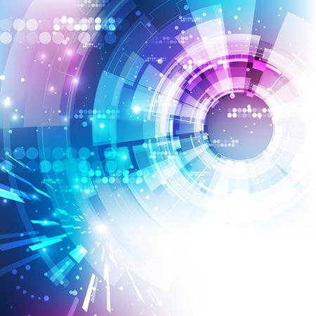 Abstract background futuristico tecnologia digitale. Vector Illustration