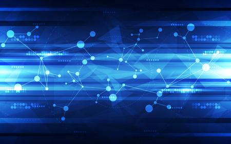 Fondo de la tecnología digital futurista abstracto. ilustración del vector Foto de archivo - 52879557