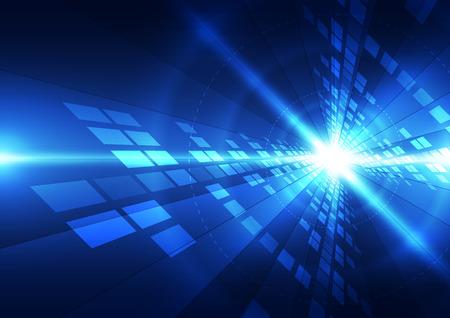 Zusammenfassung futuristischen digitale Technologie Hintergrund. Illustration Vektor Standard-Bild - 53628266