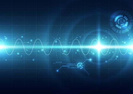 fondo de la tecnología digital futurista abstracto. ilustración del vector