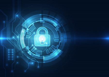 Abstrakt Sicherheit digitale Technologie Hintergrund. Illustration Vektor Standard-Bild - 54479771
