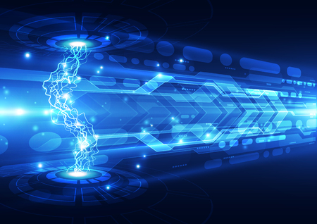 Abstract electric digital technology, concept background Imagens - 55372925