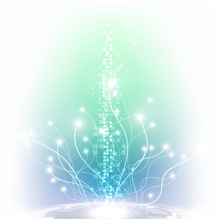 Abstract futuristic digital technology background. Illustration Vector