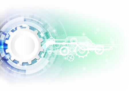 ベクター背景抽象的なテクノロジー概念図  イラスト・ベクター素材
