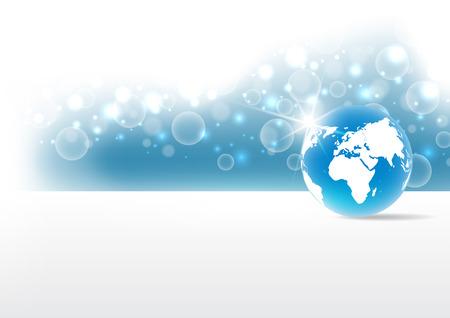 Vector concepto de tecnología digital global, fondo abstracto