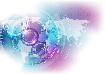 vector digital global technology concept, abstract background Stock Illustratie