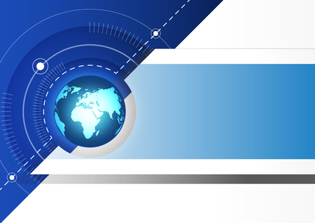 Abstracte globale toekomst technologie achtergrond