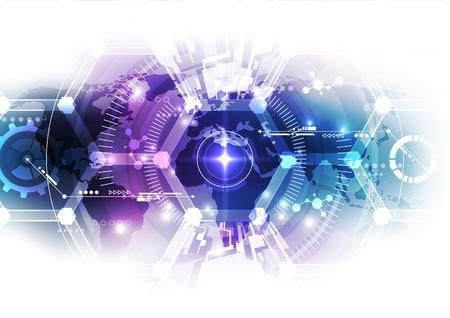 抽象的な科学的な将来技術の背景