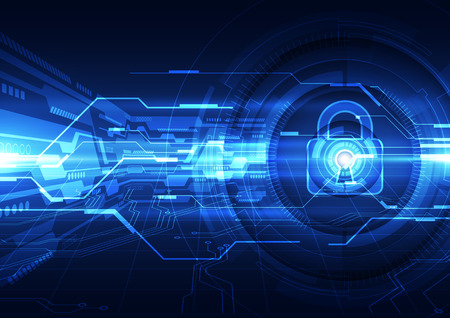 hacked: Abstract security digital technology background Illustration