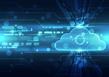Abstract cloud technology background Ilustracja