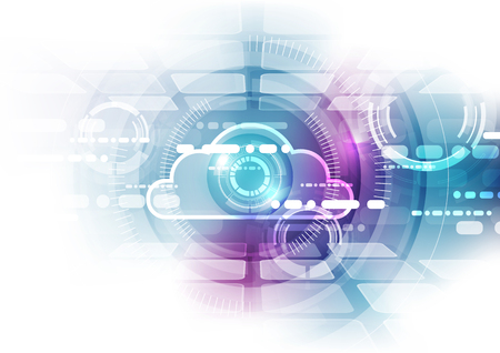 cloud technology: Abstract cloud technology background Illustration